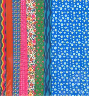 Fabric Set Blue Daisy