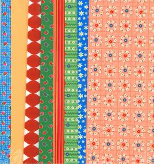 Fabric Set Floral Squares