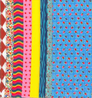 Fabric Set Strawberry Blue