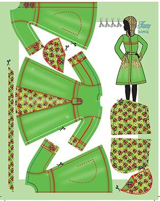 Fanny ladybug pattern