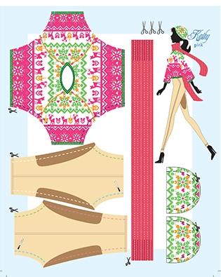 Kathy pink pattern