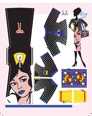 Lizzy Pop Art pattern