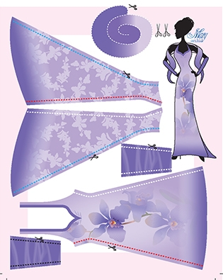 Mary Orchid pattern